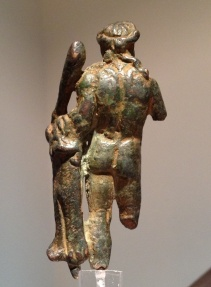 Ancient Coins - A Roman Period Small Bronze Figurine of Hercules, ca. 2nd-3rd century CE