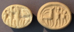Ancient Coins - An Iron Age IIa Scaraboid White Stone Seal, 10th-9th century BCE