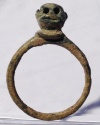 Ancient Coins - A Roman Bronze Ring with the Head of A Monkey, ca. 2nd - 4th century CE