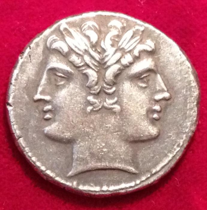 Ancient Coins - QUDRIGATUS-DIDRACHM, 215-213 CE