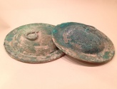 Ancient Coins - A Pair of Iron Age Bronze Cymbals, ca. 10th century BCE