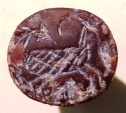 Ancient Coins - An Iron Age Conoid Brown Crystal Seal, 8th-7th century BCE