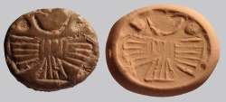Ancient Coins - An Iron Age Light-Brown Stone Scaraboid Seal, 8th-7th century BCE