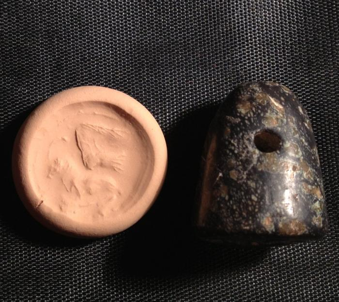 Ancient Coins - A Babylonian Steatite Seal, 5th-4th century BCE