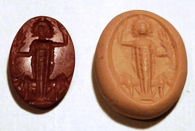 Ancient Coins - A Roman Red Jasper Gem, 1st-2nd century CE