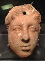 Ancient Coins - A Hellenistic Terracotta Mask, 3rd-2nd century CE
