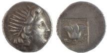 Ancient Coins - Islands off Caria, Rhodos. Rhodes. Circa 188-170 BC. AR Drachm