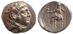 Ancient Coins - Seleukid Empire, Seleukos I Nikator AR Tetradrachm. Ekbatana, circa 311-295 BC.  Very Rare and one of the finest known.