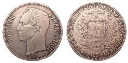 World Coins - Venezuela 5 Bolivares 1936
