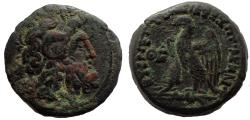 Ancient Coins - Ptolemaic Kings of Egypt. Ptolemy VIII Euergetes II (Physcon). 145-116 BC. Æ Hemiobol