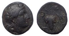 Ancient Coins - Aeolis, Temnos. 3rd-2nd centuries BC. Æ 17