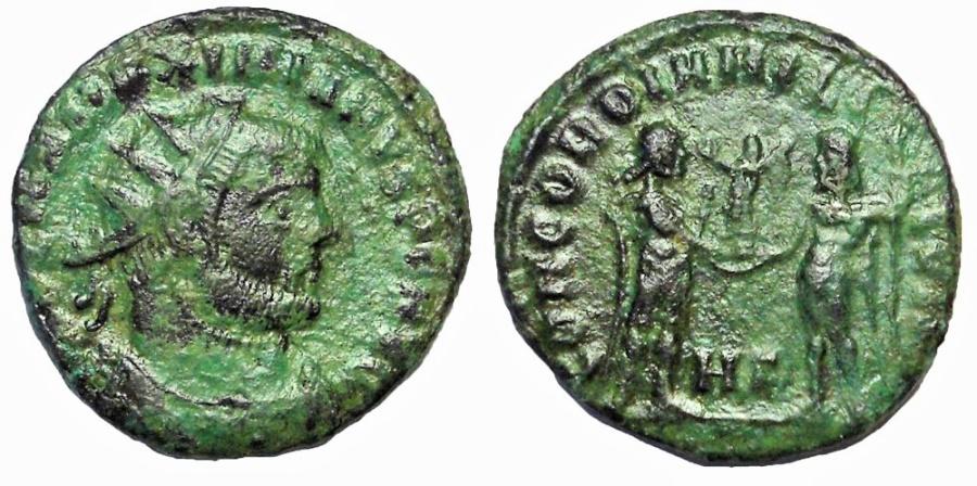 Ancient Coins - Maximianus Herculius, 285-310 AD.  AE Antoninianus, CONCORDIA MILITVM Reverse