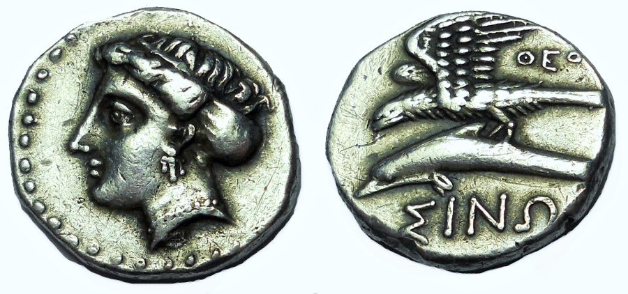 Ancient Coins - PAPHLAGONIA. SINOPE. CA. 330-300 BC. AR DRACHM