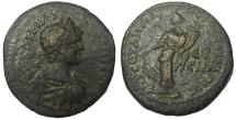 Ancient Coins - Pontus, Amasia: Caracalla, 198-217 AD. Æ 30 mm, Tyche Reverse