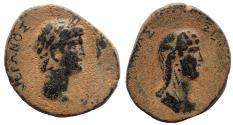 Ancient Coins - Galatia, Koinon of Galatia. Nero with Poppaea (54-68). Ae 27. Rare.