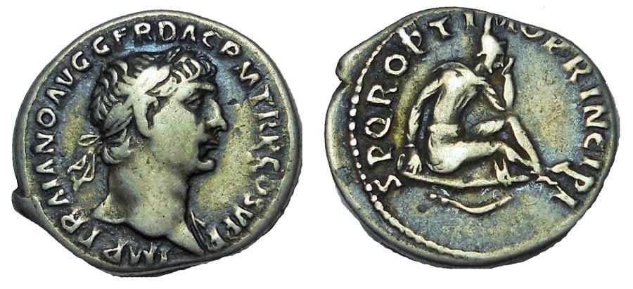 Ancient Coins - Trajan. AD 98-117. AR Denarius