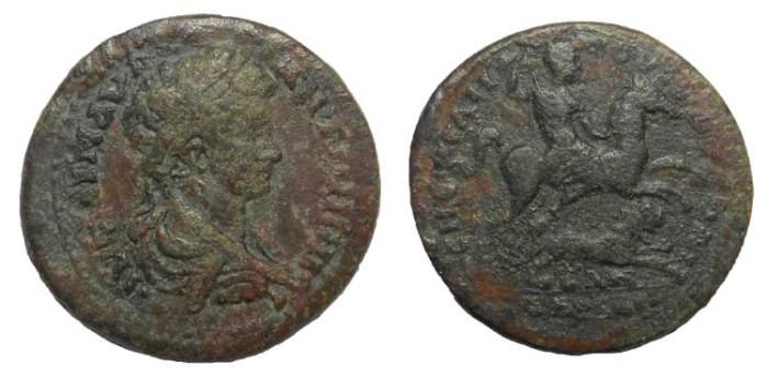 Ancient Coins - Caracalla, 198-217 AD,  Hadrianeia in Mysia, AE 27 mm.  Very Rare