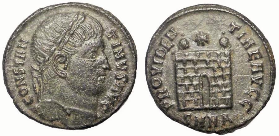 Ancient Coins - Constantine II, 337-340 AD. AE 3 Follis