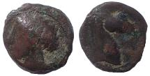 Ancient Coins - Carthage. Circa 300-264 BC. Æ 18, Sardinia mint