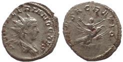 Ancient Coins - Divus Valerian II. Died AD 258. AR Antoninianus