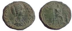 Ancient Coins - Julia Domna. Augusta, AD 193-217. Æ As. Rare.