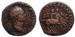 Ancient Coins - Vespasian (AD 69-79). AE As. Early dynastic issue. Very Rare.