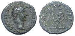 Ancient Coins - TRAJAN, 98-117 AD. AR DENARIUS, ABUNDANTIA REVERSE