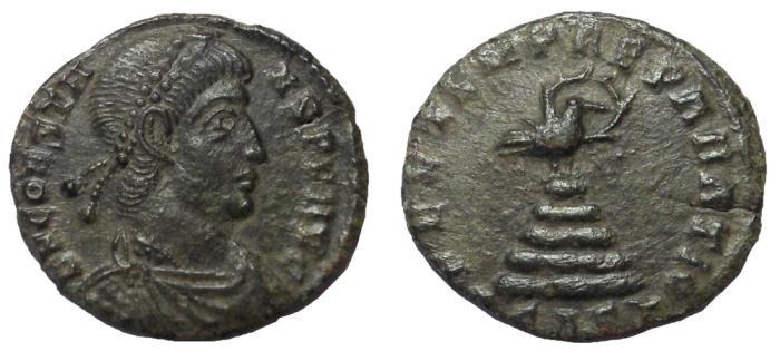 Ancient Coins - Constans, 333-350 AD.  AE Follis