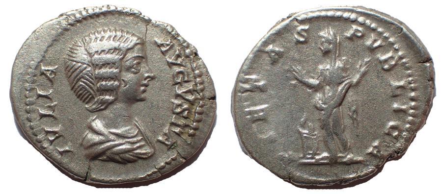 Ancient Coins - Julia Domna. Augusta, AD 193-217. AR Denarius