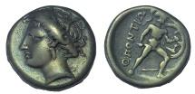 Ancient Coins - Locris. Locri Opuntii (Epicnemidii). AR Hemidrachm. Ex L. Hamburger sale 1925