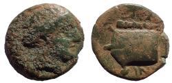 Ancient Coins - Caria, Knidos. Circa 250-210 BC. Æ 13. Rare.