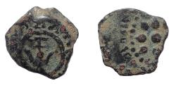 Ancient Coins - Judaea, Hasmoneans. Alexander Jannaeus. 103-76 BCE. Æ Prutah. (Widow's mite)