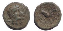 Ancient Coins - Sicily, Leontinoi. Circa 2nd-1st Century BC. Ae 15