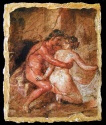 Ancient Coins - Replica Wall Painting from the House of the Epigrams - Pompeii