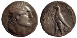 Ancient Coins - Ptolemaic Kings of Egypt. Ptolemy III Euergetes. 246-222 BC. AR Tetradrachm