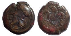 Ancient Coins - Sicily, Syracuse: Dionysos I, ca. 375-344 BC. AE Litra