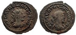 Ancient Coins - Aurelian, with Vabalathus. AD 270-275. Antoninianus