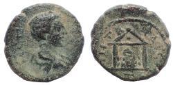 Ancient Coins - Cappadocia, Caesarea. Diadumenian (Caesar, 217-218). Ae 18. Very rare.
