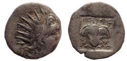 Ancient Coins - Rhodos. Rhodes. Circa 88-84 BC. AR Drachm