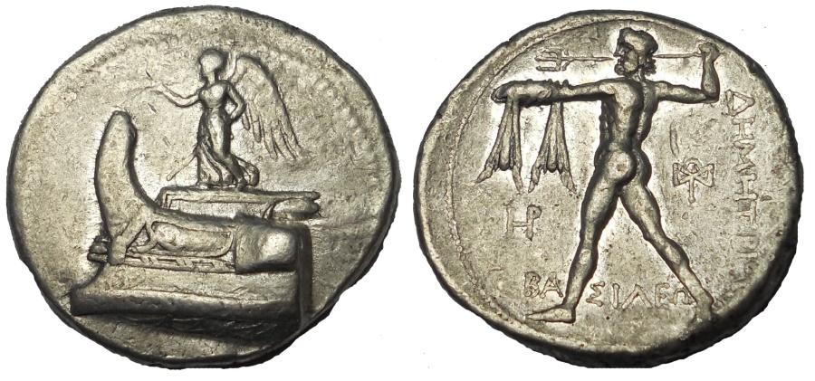 Ancient Coins - Kings of Macedon. Demetrios I Poliorcetes. 306-283 BC. AR Tetradrachm