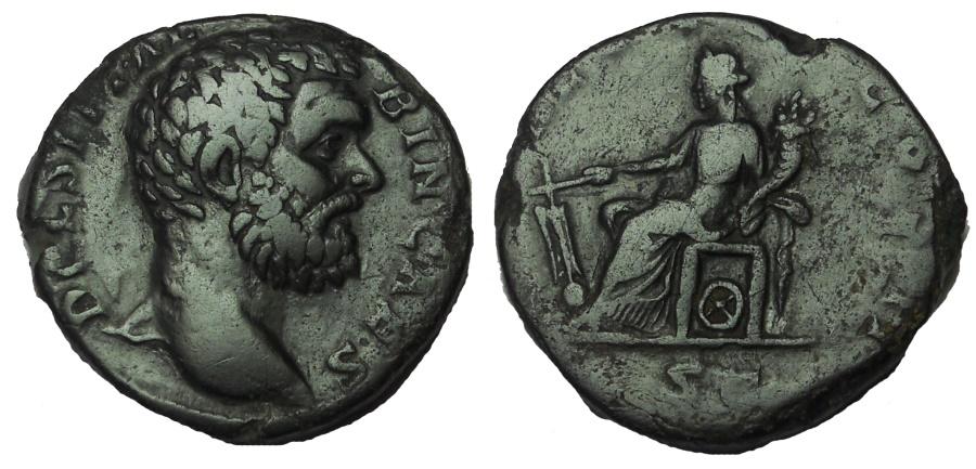 Ancient Coins - Clodius Albinus, As Caesar, AD 193-195. Æ Sestertius. Rare.