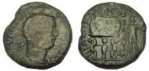 Ancient Coins - Cilicia: Corycus, Valerian I, 253-260 AD. Æ 32. RARE