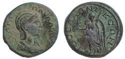 Ancient Coins - Macedon, Thessalonica: Julia Paula, Augusta, 219-220 AD. AE 24, Rare