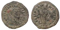 Ancient Coins - Diocletian. AD 284-305. Æ Follis. Carthago (Carthage) mint. Struck AD 297-298