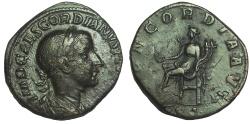 Ancient Coins - GORDIAN III, 238-244 AD. Æ SESTERTIUS