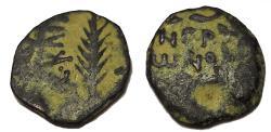 Ancient Coins - Judaea, Procurators. Porcius Festus. 59-62 AD. Æ Prutah