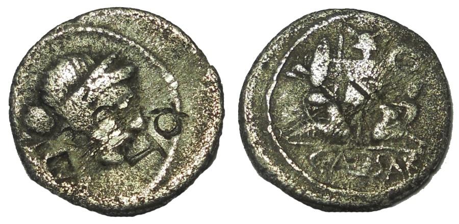 Ancient Coins - The Caesarians.Julius Caesar.Late 46-early 45 BC. AR Denarius