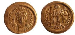 Ancient Coins - Justinian I (527-565). Gold Solidus.