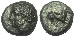 Ancient Coins - Syracuse, Sicily: ca. 274-216 BC. AE 15 mm