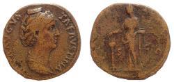Ancient Coins - Diva Faustina Senior. Died AD 140/1. Æ Sestertius